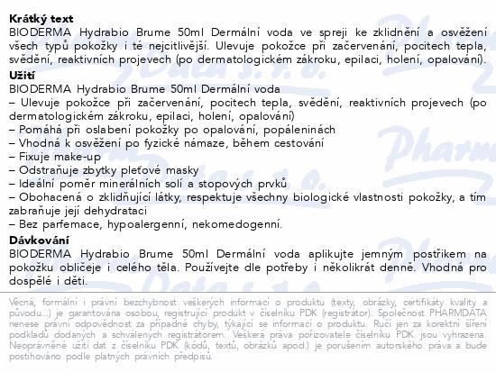 BIODERMA Hydrabio Brume 50ml