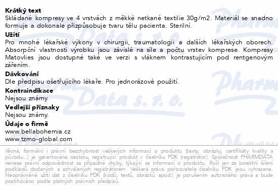 Matovlies kompresy net.text.30g 7.5x7.5cm 2ks