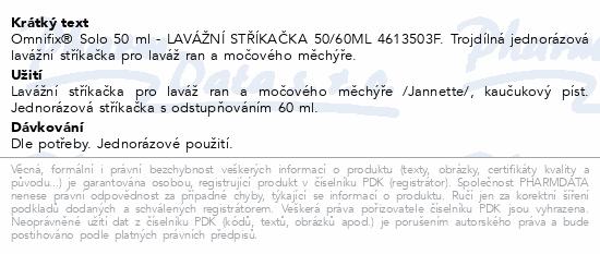 LAVÁŽNÍ STŘÍKAČKA 50/60ML