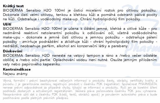 BIODERMA Sensibio H2O 100ml
