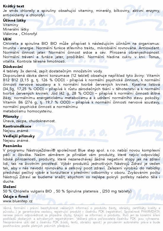 Chlorella+Spirulina BIO 100g tbl.400