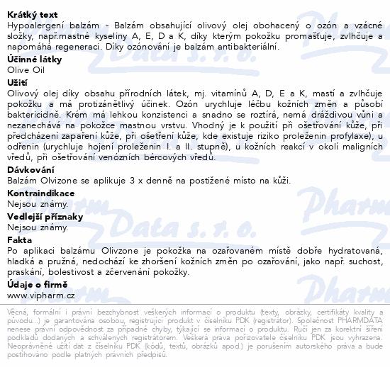 Olvizone hypoalergenní balzám 200ml