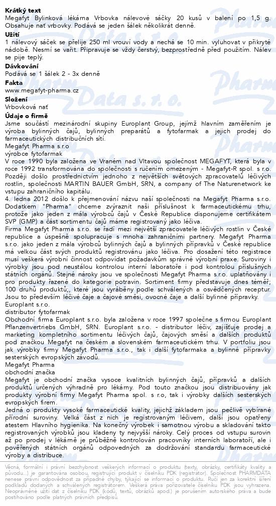 Megafyt Bylinková lékárna Vrbovka 20x1.5g