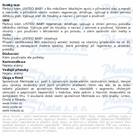 Dětský pleť.krém LINTEO BABY s Bio měsíč.lék. 75ml