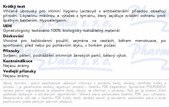 Lactacyd ubrousky with Antibacterials 15ks