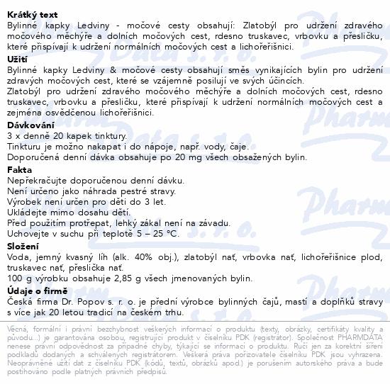 Dr.Popov Kapky bylinné Ledviny-močové cesty 50ml