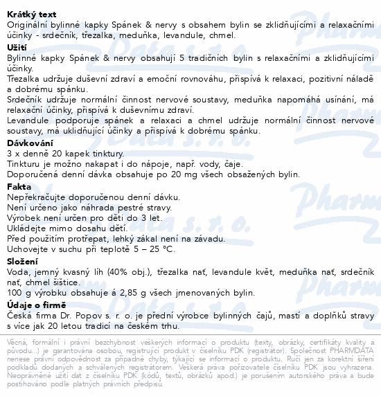 Dr.Popov Kapky bylinné Spánek-nervy 50ml