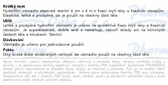 Obin.hydrofil.sterilní elastické 12cmx4m 1ks