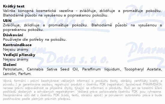 Vazelína konopná kosmetická Valinka 50ml