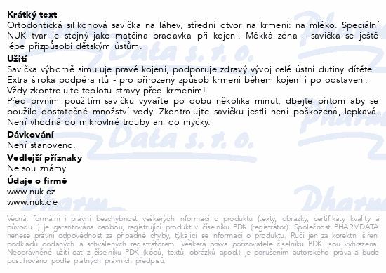 NUK FC+ savička SI M V2 (6-18m.) 721273