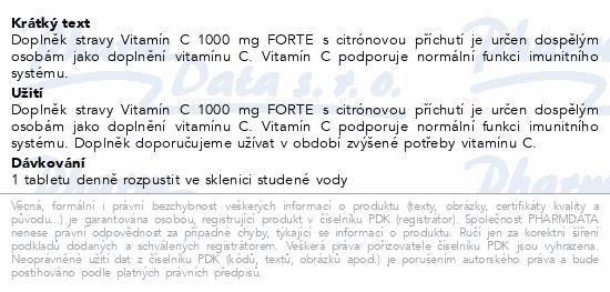 Biotter Vitamín C 1000mg FORTE 20ks šumivých tbl.