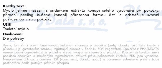Přír.kosmetické mýdlo glycer.s KONOPNÝM OLEJEM100g