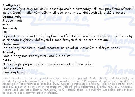 Priessnitz Žíly a cévy Medical 125ml