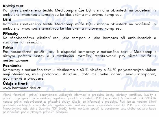 Kompres Medicomp nester..5x5cm 100ks 4218215