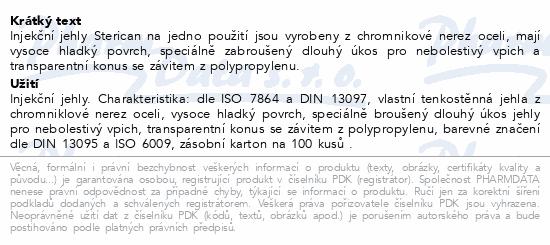Inj.jehla STERICAN 22G/0.7x30mm černá ster.100ks