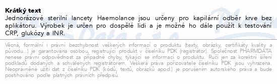 Lancety 2703+Haemolance Plus pro dosp.zelené 100ks