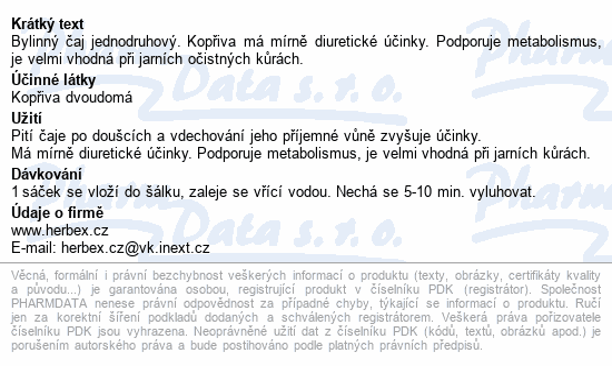 HERBEX Kopřiva dvoudomá n.s.20x3g