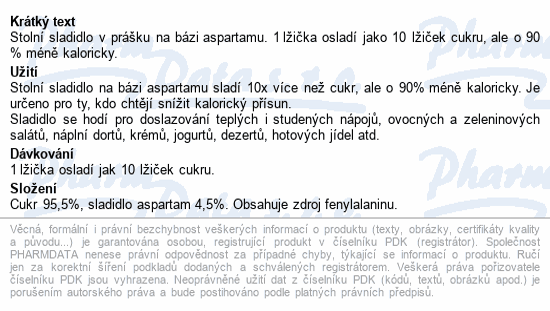 IRBIS Aspartam Big Sweet 10x sladší syp.slad. 200g