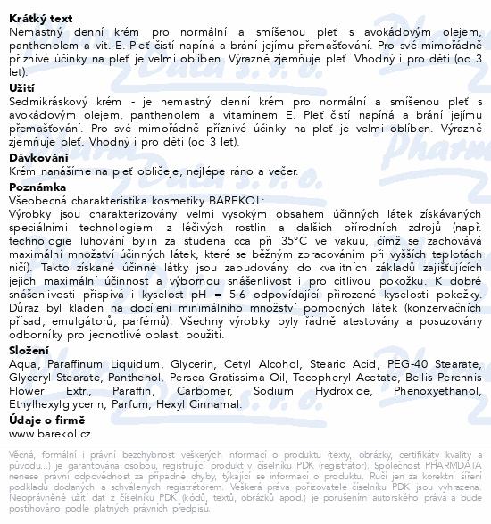Barekol Sedmikráskový krém 50ml