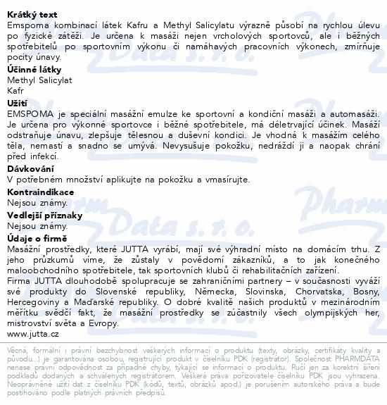 Masážní emulze Emspoma Regenerační 200ml
