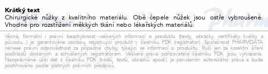 Nůžky chir.hrotnaté 140mm ZSZ